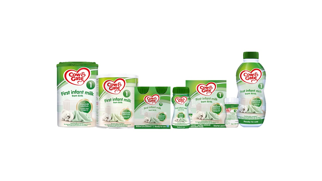 6 Months 800g Pack of 3 Cow /& Gate First Infant Milk 1 from Birth